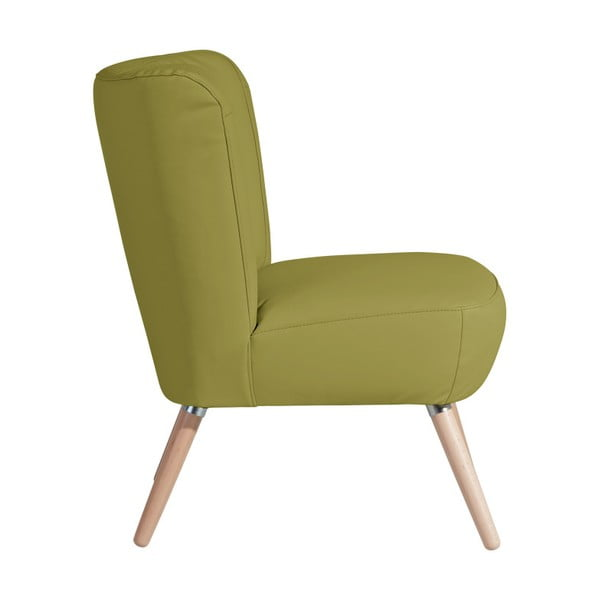 Zelené křeslo Max Winzer Neele Leather Green