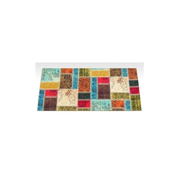 Vysoce odolný kuchyňský koberec Webtappeti Patchwork,60x240cm