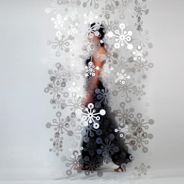 Bubble závěs, 100x200 cm, kouřová bílá