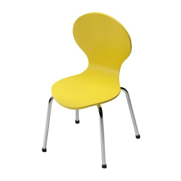 Dětská žlutá židle DAN-FORM Denmark Child