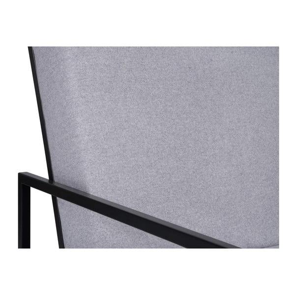 Světle šedé křeslo BSL Concept Geometric
