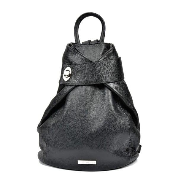 Čierny kožený batoh Anna Luchini Bonnie