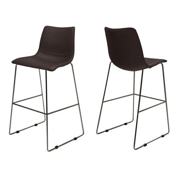 Sada 4 hnědých barových židlí Canett Delta