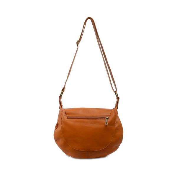 Karamelově hnědá kožená kabelka Infinitif Christa