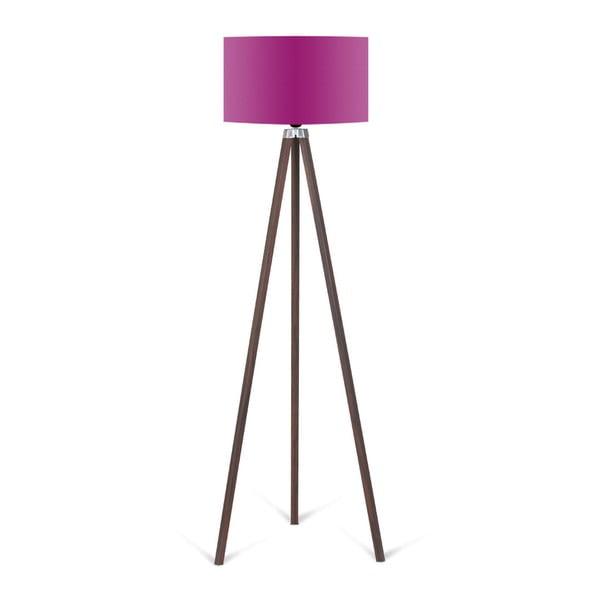 Lampa stojąca z fioletowym abażurem Kate Louise Kahve