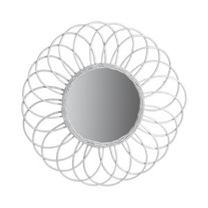 Zrcadlo z ratanu a kovu Red Cartel Sunflower, Ø 70 cm