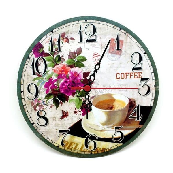Nástěnné hodiny Coffee Flower, 30 cm