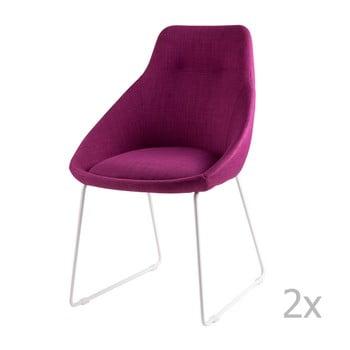 Set 2 scaune sømcasa Alba, roz imagine