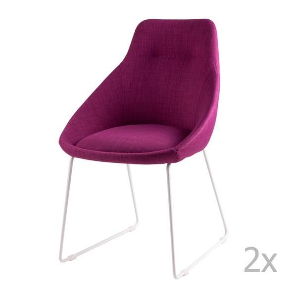 Sada 2 růžových jídelních židlí sømcasa Alba