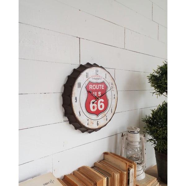 Nástěnné hodiny Route 66, 34 cm