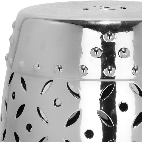 Stříbrný keramický stolek Safavieh Cyprus