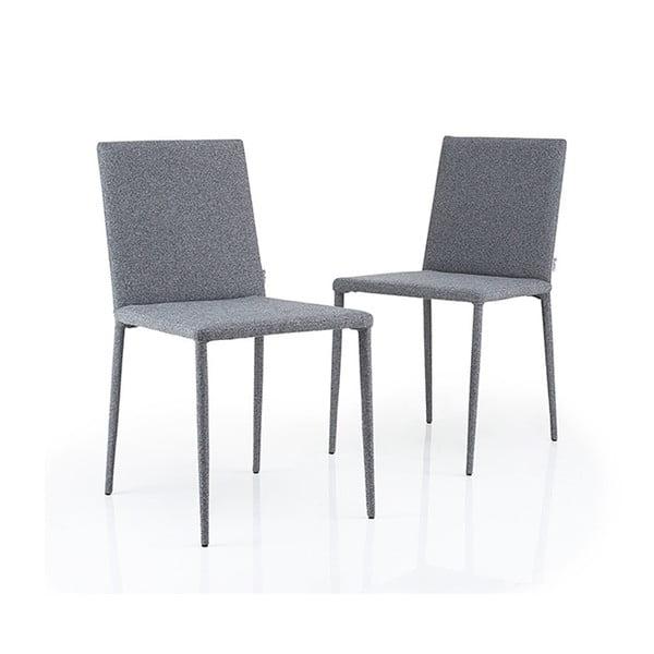 Sada 2 šedých židlí Garageeight Ikaalinen