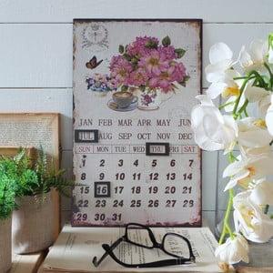 Stolní kovový kalendář Flowers