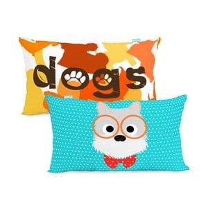 Oboustranný bavlněný povlak na polštář Mr. Fox Dogs 50x30cm