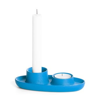 Sfeșnic EMKO Aye Aye Two Candle, albastru