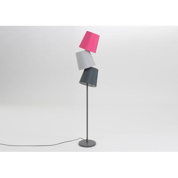 Stojací lampa Three Lampshades Fuchsia
