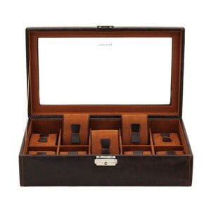 Box na hodinky Friedrich Lederwaren Bond 10 Brown