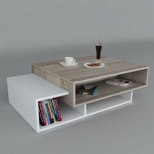 Konferenční stolek Tab White/Cordoba, 60x105x32 cm