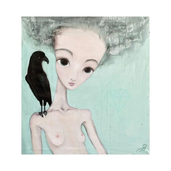 Autorský plakát od Lény Brauner Na vážkách, 60x56cm