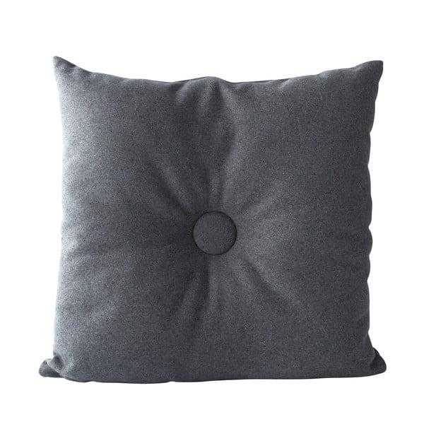 Polštář Buttons 45x45 cm, šedý