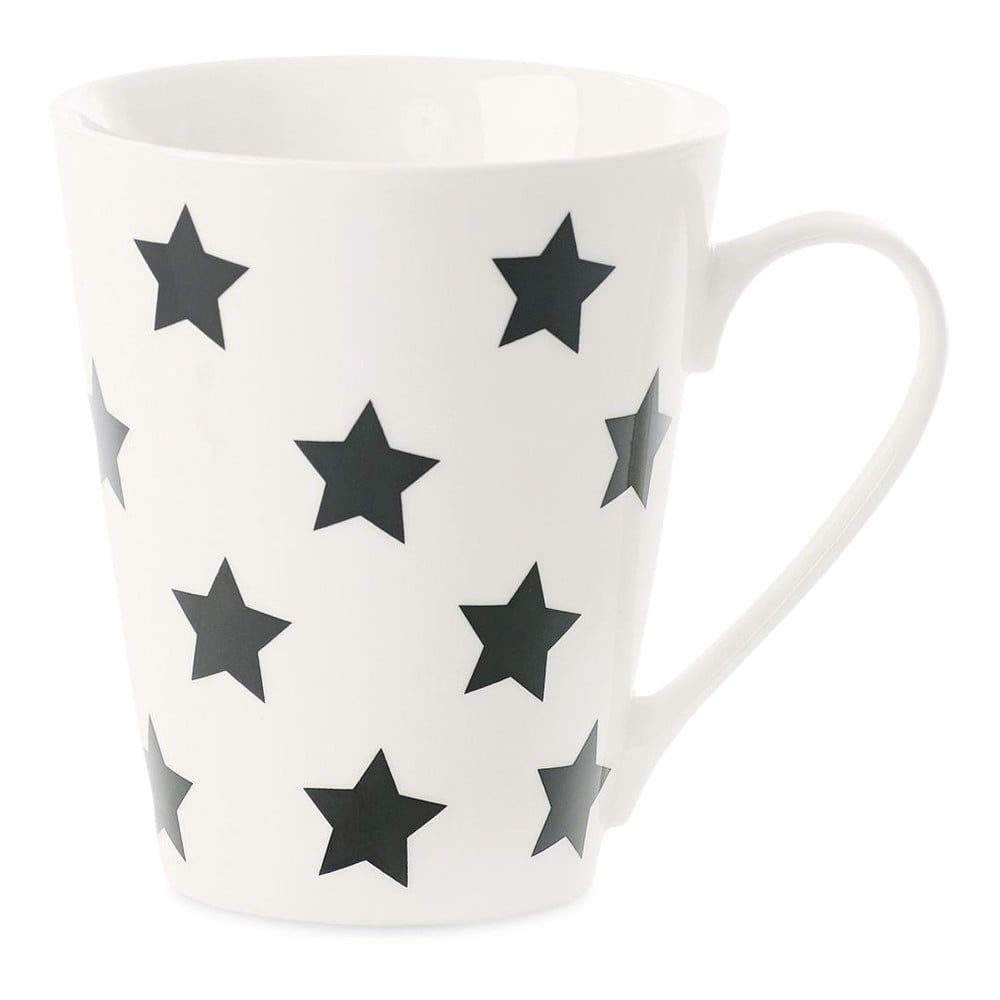 Porcelánový hrnek Miss Étoile Coffee Black Stars