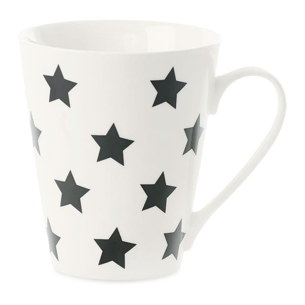 Porcelánový hrnek Miss Étoile Coffee Black Stars