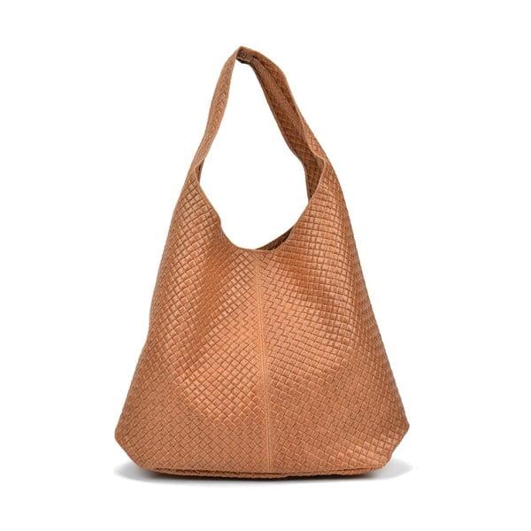 Světle hnědá kožená kabelka Magnotti Bags Lui