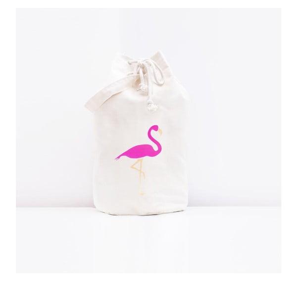 Úložná plátěná taška Flamingo