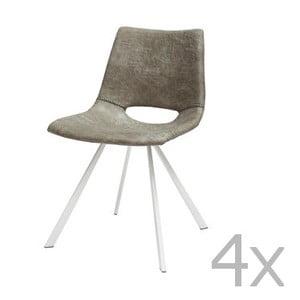 Sada 4 šedých židlí Canett Coronas