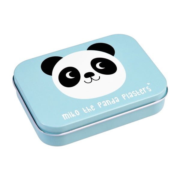 Set 30 plasturi în cutie metalică Rex London Miko The Panda