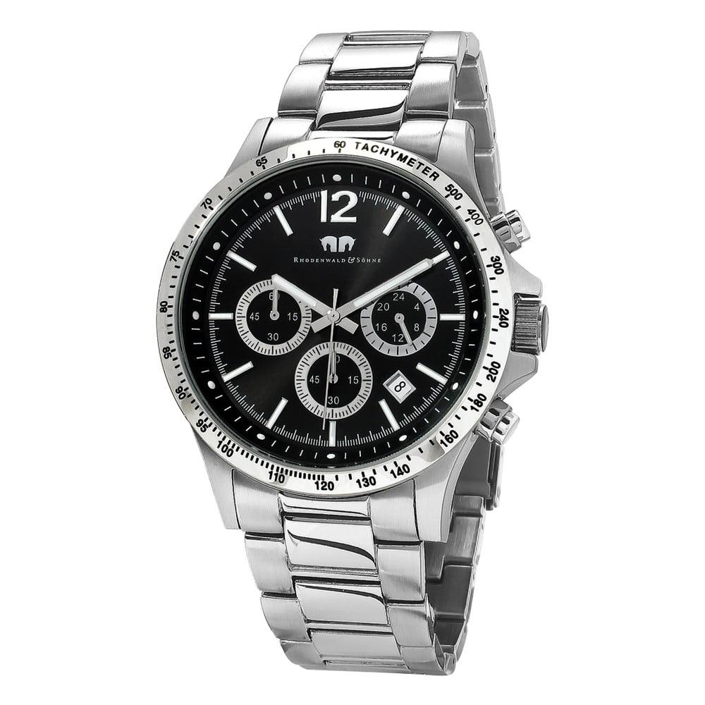 Pánské hodinky ve stříbrné barvě s černým ciferníkem Rhodenwald & Söhne Playmaster