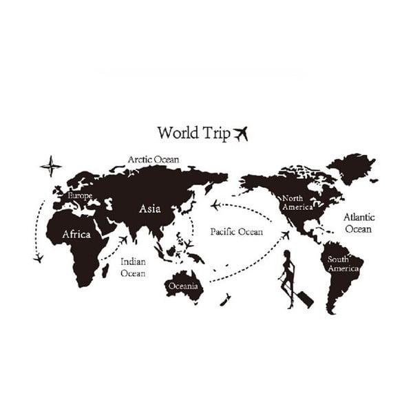 Dekorativní samolepka World Trip, 140x80 cm
