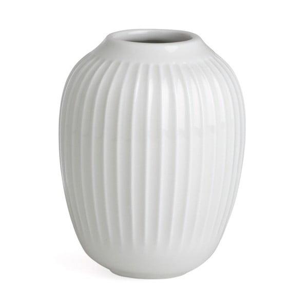 Biela kameninová váza Kähler Design Hammershoi, výška 10 cm