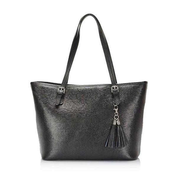 Černá kožená kabelka Lisa Minardi Arianna