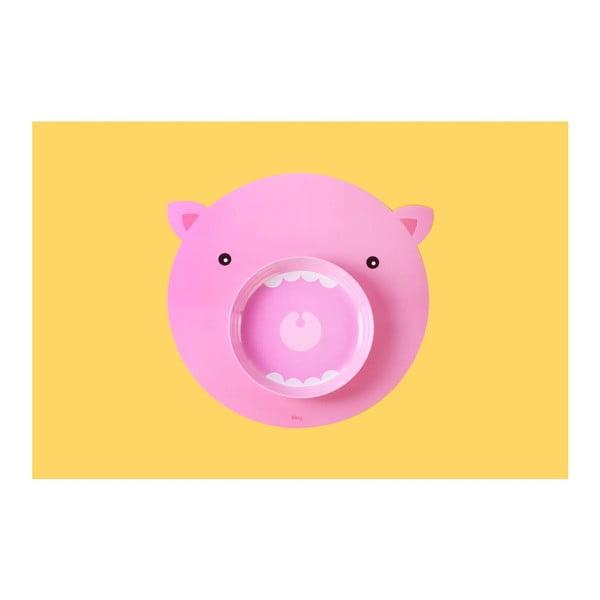 Sada prostírání a talíře DOIY Hungry Pig