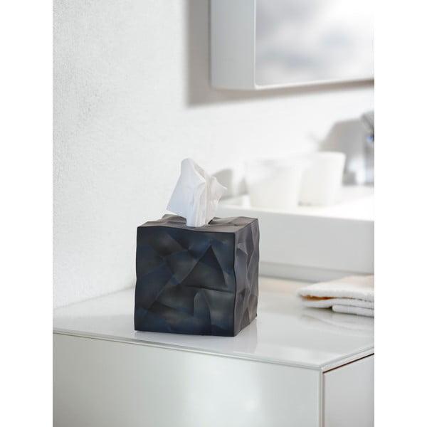 Černý box na kapesníčky Essey Wipy Cube