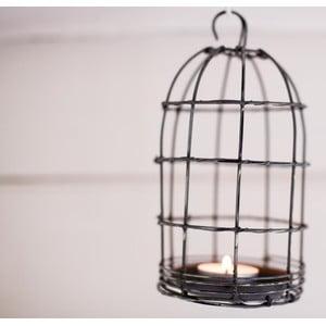 Lucerna Bird Cage Light 19 cm, šedá