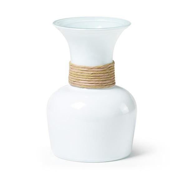 Bílá váza z recyklovaného skla La Forma Sarel