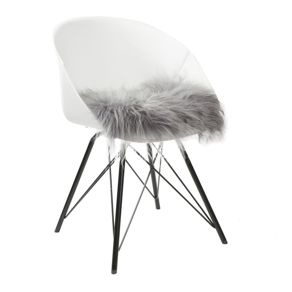 Šedý sedák na židli Woooly Icelandic