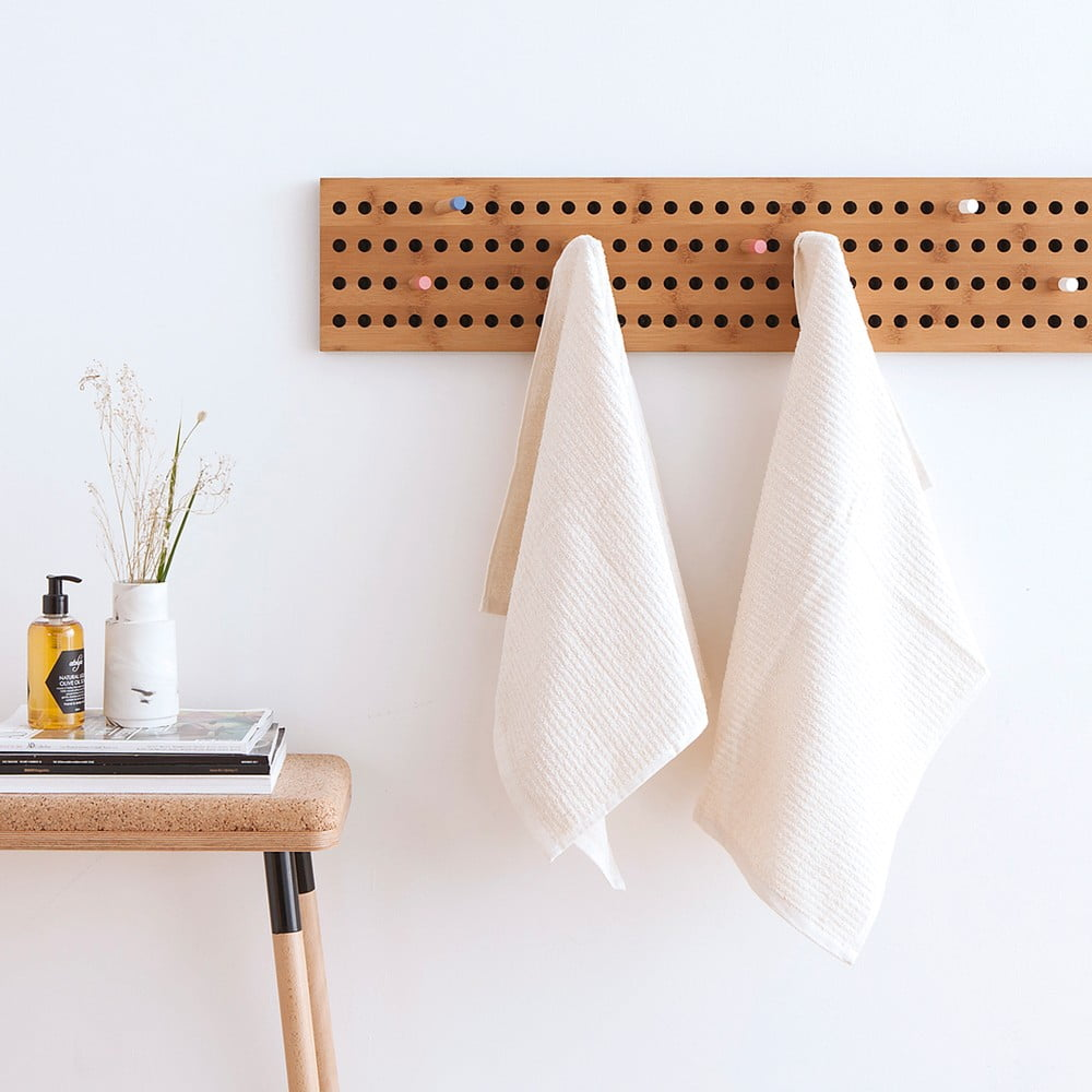 set 2 prosoape frotir casa di bassi stripe 50 x 90 cm alb bonami. Black Bedroom Furniture Sets. Home Design Ideas