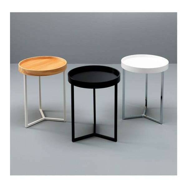 Černý odkládací stolek Design Twist Tallin