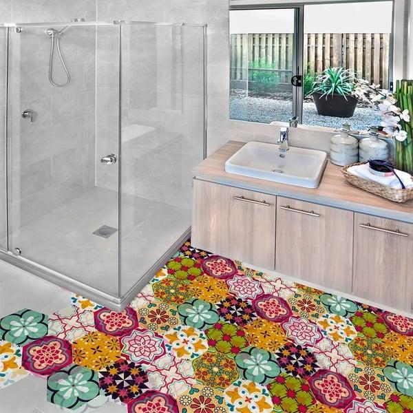 Set 10 autocolante impermeabile pentru podea Ambiance Adamaris, 20 x 18 cm