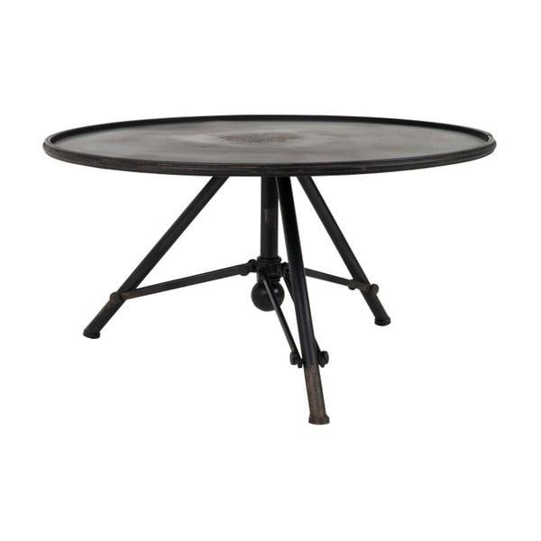 Brok fekete fém dohányzóasztal, ⌀ 78 cm - Dutchbone