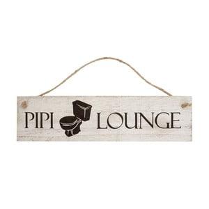 Dřevěná nástěnná dekorace  Mendler Shabby Pipi Lounge