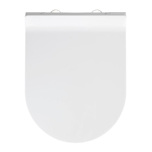 Capac WC cu închidere lentă Wenko Habos, 46 x 36 cm, alb