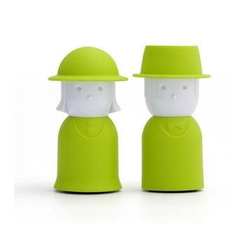 Solniță și piperniță Qualy&CO Mr.Pepper & Mrs. Salt, verde imagine