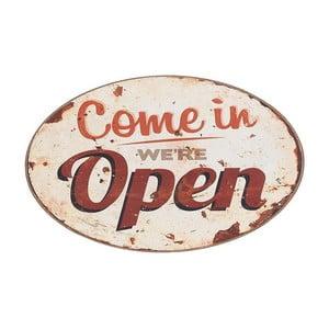 Kovový obraz Come in We Are Open