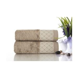 Sada 2ks ručníků Bamboo Polo Beige, 50x90 cm