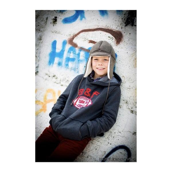Cască textilă copii cu elemente de protecție Ribcap Bieber, măr. S, maro