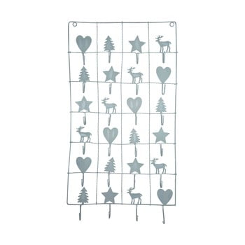 Calendar metalic advent Green Gate, lungime 71 cm, gri imagine